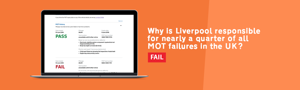 Liverpool account for a quarter of all MOT fails.