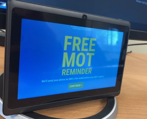 Kiosk mode running on MOT Manager